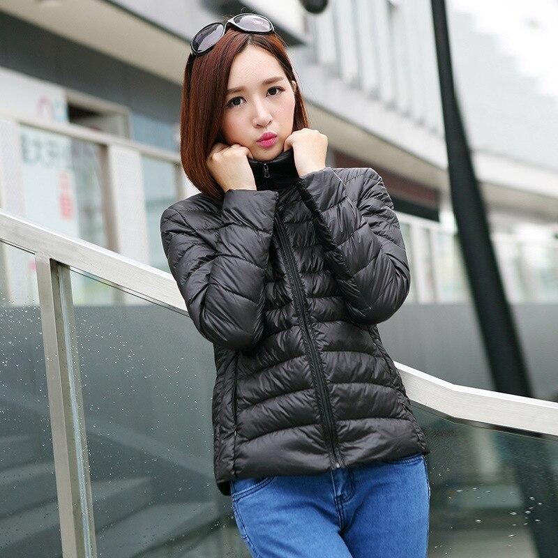 women ultra light down jacket winter goose down jackets female ...