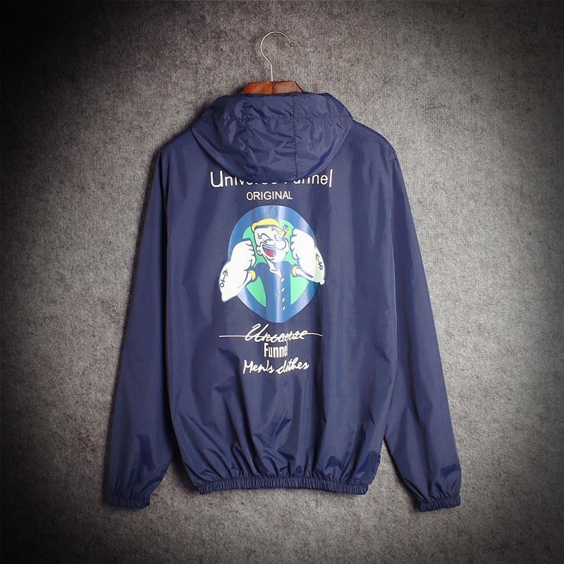YuWaiJiaRen Spring Summer Jacket Men and Women Thin Fashion Hooded Personality Windbreak Sunscreen Coat Jacket for Couple