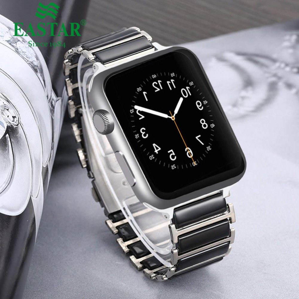 Steel Ceramic For Apple Watch Band 42mm 38mm For iwatch 3 2 1 42mm 38 mm Replacement Watchband for iWatch Accessories iwatch 2015