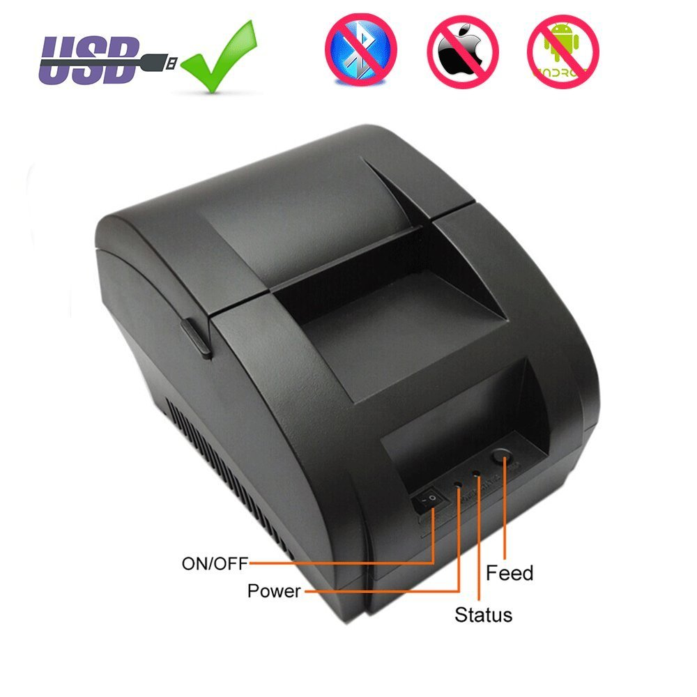 I58TP04 Cheap 2 inch 58mm thermal printer thermal receipt printer pos printer 90mm/s USB ESC/POS Compatible Windows and Linux zonerich thermal printer head b 58gk 58mk ecr800 1200 1000af 2000af pos machine compatible ftp 628mcl101 sii z245m printhead