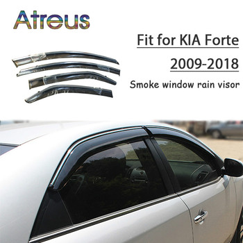 Atreus 1set ABS For Kia Forte 2018 2017 2016 2015 2014-2009 Accessories Car Vent Sun Deflectors Guard Smoke Window Rain Visor