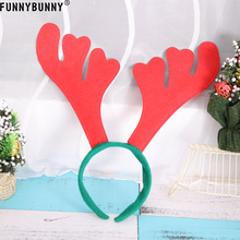 FUNNYBUNNY Christmas Reindeer Antlers On Headband For Fancy Dress