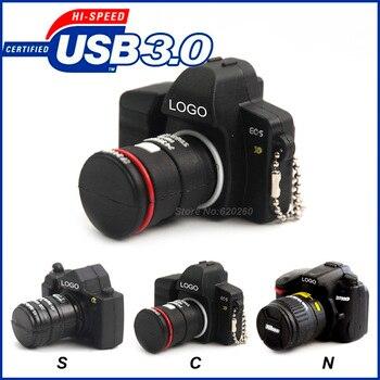 Флеш накопитель 64 ГБ USB3.0 оптовая продажа Флеш накопитель мультфильм Камера usb Флеш накопитель r 8 ГБ 16 ГБ 32 ГБ 64 ГБ Камера usb флэш-накопитель, д...