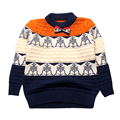 Print Boy Sweaters Cotton Top Warm Boys Outerwear Crochet Infant Clothes Pullover Kids Sweater Boys Knitwear Toddler Outfit 2016