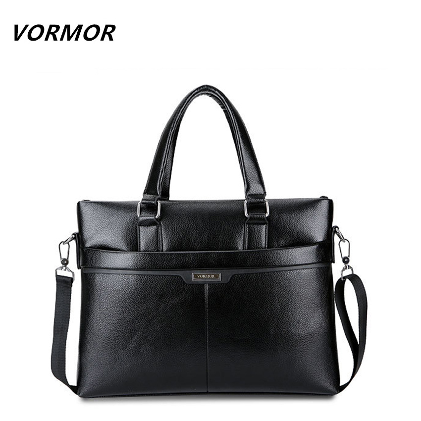 VORMOR Men Messenger Bag PU Leather Casual Briefcase Business Shoulder Bag Computer Laptop Handbag Bag Men's Travel Bags 2017 2016 men casual briefcase business shoulder bag pu leather messenger bags computer laptop handbag bag men s travel bags