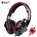 Sades 901 sa-901 gaming headset 7.1 surround sound stereo baixo fone de ouvido fones de ouvido com microfone usb controle remoto para pc gamer