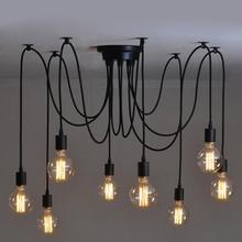 8 Heads Lamp Vintage Pendant Lights Lamp Edison Light Chandelier Pendant Lighting for Home Lighting Fixtures Decor Restaurant pendant light for restaurant 5 8 heads beanstalk dna molecules vintage pendant lamp nordic iron pendant lighting glass shades