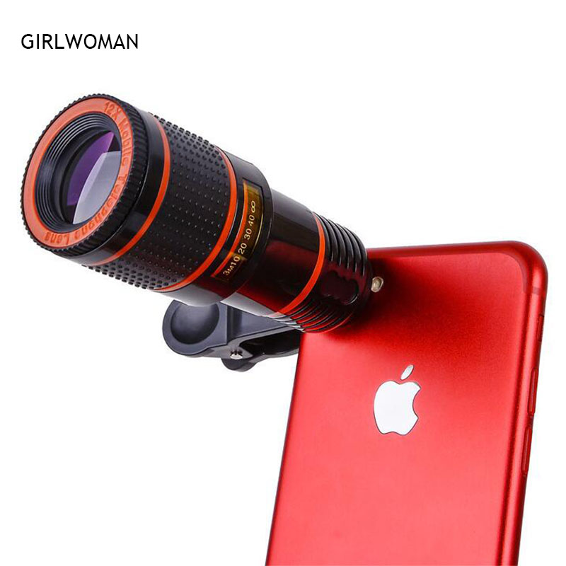 Universal Clip 8X 12X Zoom Cell Phone Telescope Lens