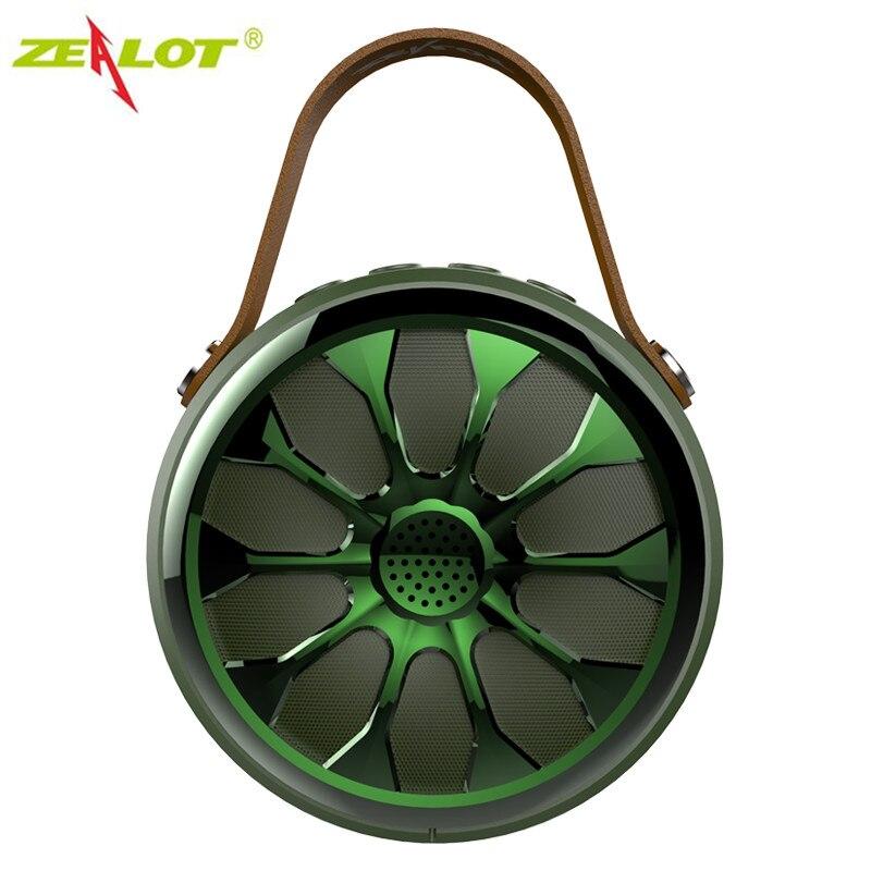 Bluetooth ao ar Livre à Prova Estéreo sem Fio Lanterna de Acampamento Zealot Alto-falante Água Ip67 Baixo Esporte Subwoofer Power Bank S11 Dip67