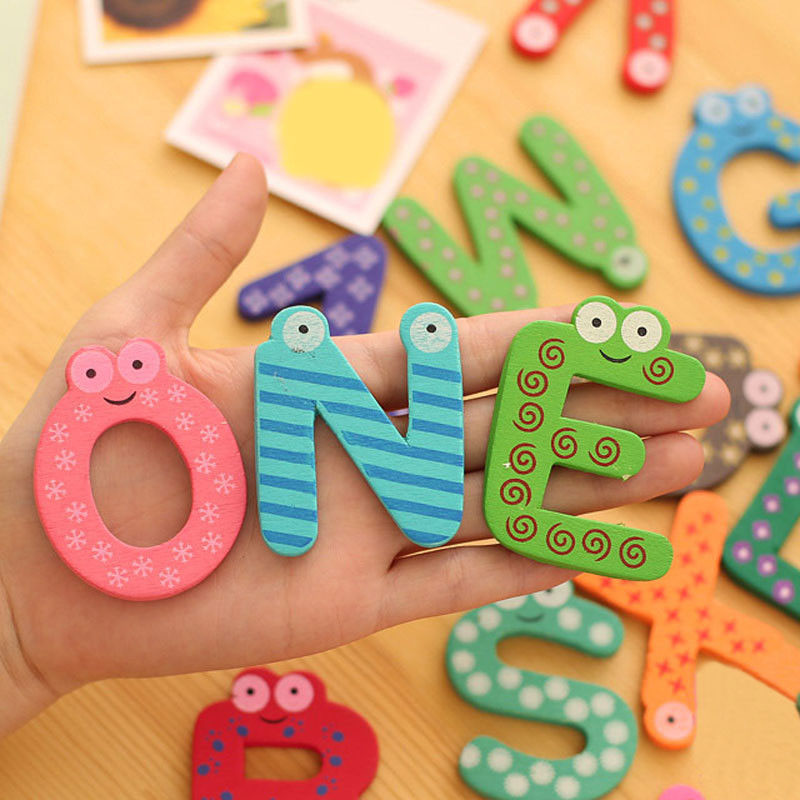 10pc Colorful Numbers Wooden Fridge Magnets Kids Children Learning Teaching Toys