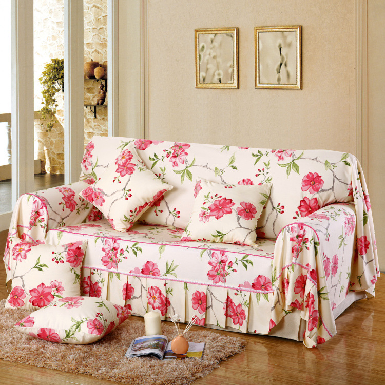 Covering A Sofa With Fabric: 2016 New Arrival 100% Cotton Printed Pastoral Plant