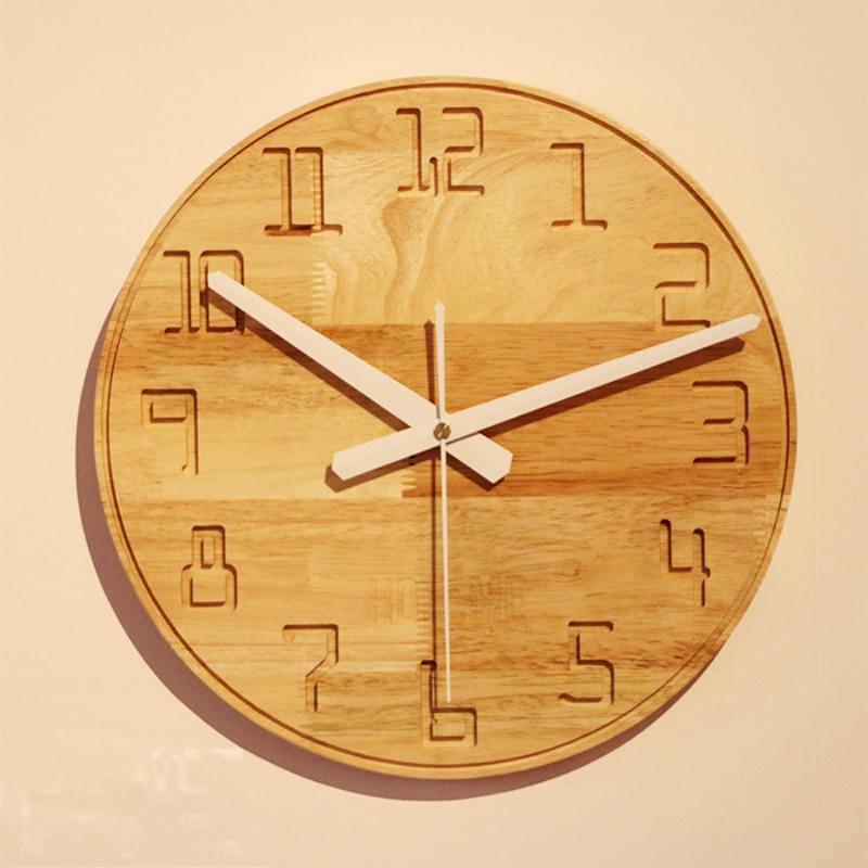 DIY Brief living room wooden wall clock Refinement Office ...