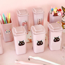 Creative stationery Cartoon pink student  pen holder desk accessories organizer pen holders supplies 1 pc pencil shaped pen stand holders for students plastic dest stationery holder cartoon creative pen holder
