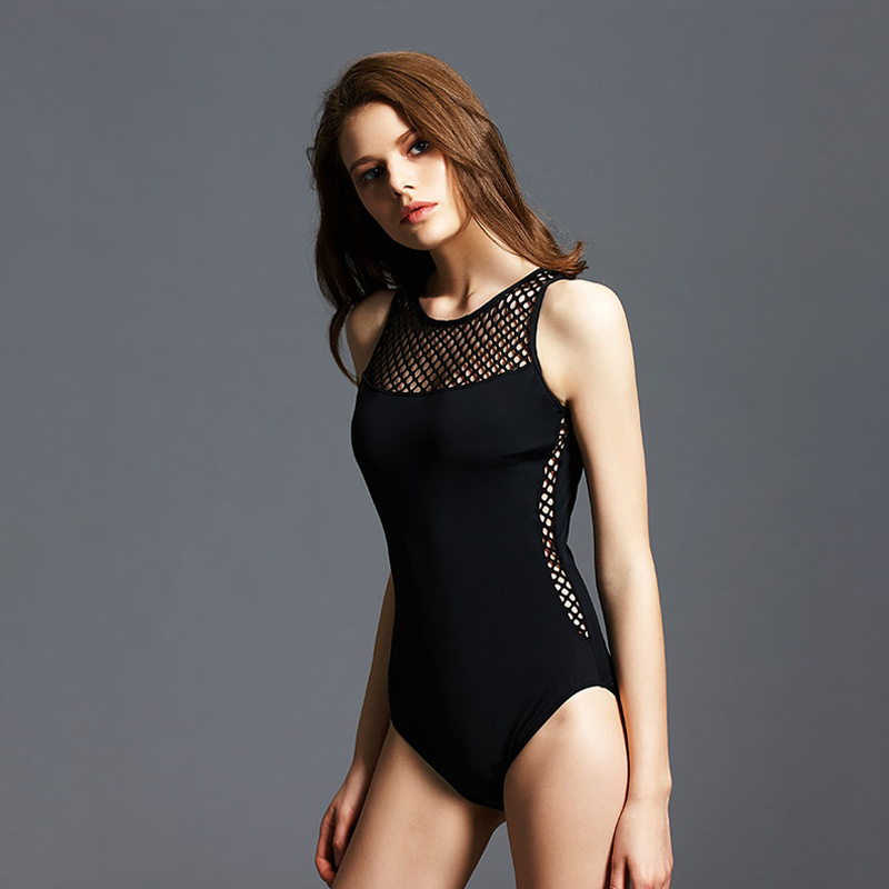 2017 Black Sexy Scoop back Female Swimsuit one piece swimwear women backless monokini pad bathing suit swim wear size M L XL sexy one piece swimsuit plus size swimwear women bathing suit beach wear backless swimsuit monokini