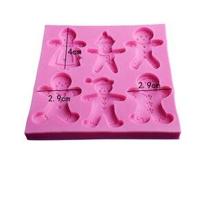 Image 2 - Moule à gâteau en Silicone Style homme à pain de noël, Fondant, chocolat, bonbons, décoration de pâtisserie, outils de confiserie