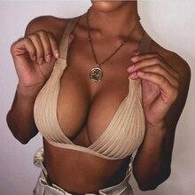 Babatique 2019 summer two pieces white apricot spaghetti strap bandage bikini sexy