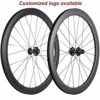 Thru Axle 6 Bolt Disc brake carbon road bike wheels 700C 50mm Clincher Carbon Wheelset Tubuar 25mm U shape cyclocross QR wheels