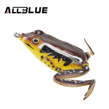 Allblue High Quality Kopper Live Target  Frog Lure 58mm/16g Snakehead Lure Topwater Simulation Frog Fishing Lure Soft Bass Bait