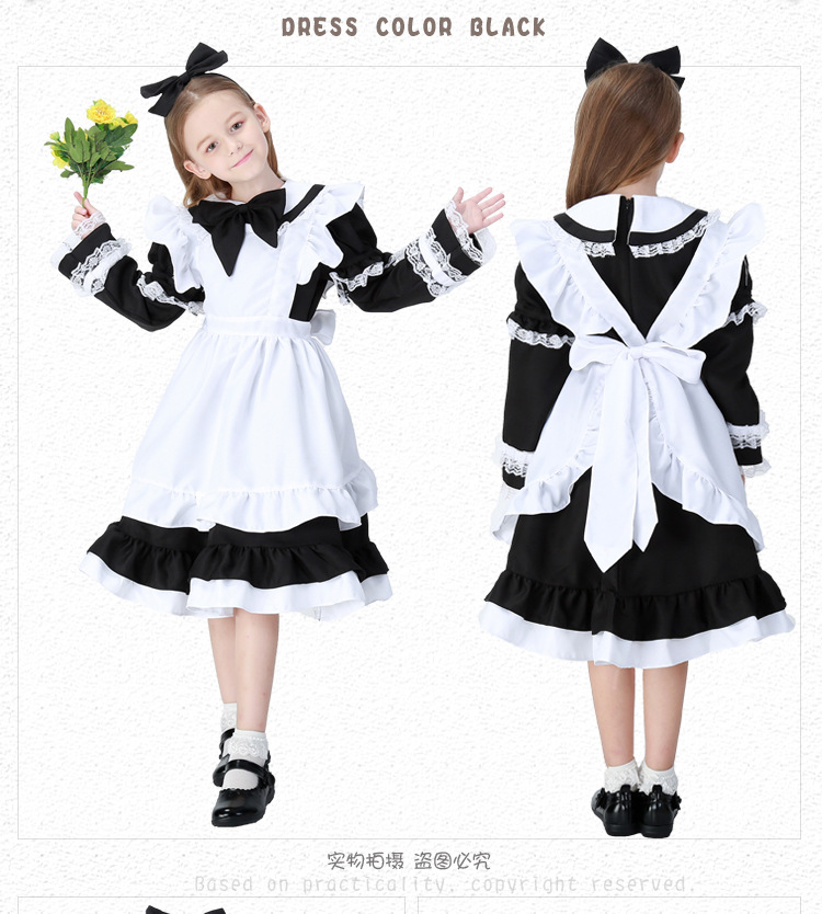 Adult Anime Alice In Wonderland Party Dress Fantastic Alice Maid Wear Lolita Dress Girls Cosplay Dress Anime Halloween Women