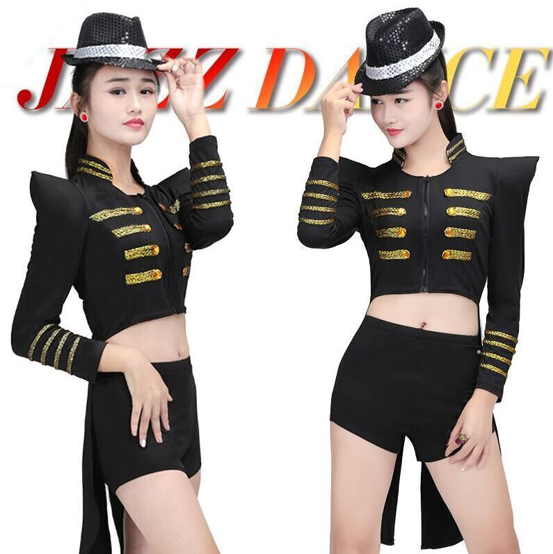 tuxedo swallow-tailed coat cutaways tails tailcoat long Dress Costume nightclub bar singer DJ female sexy singer dancer star