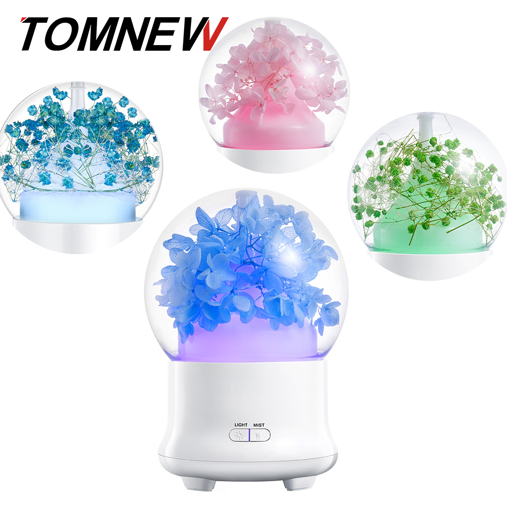 100ML Aroma Diffuser Humidifier Ultrasonic Two-Stage Spray Timing Aromatherapy Essential Oil Diffuser With Colorful Light