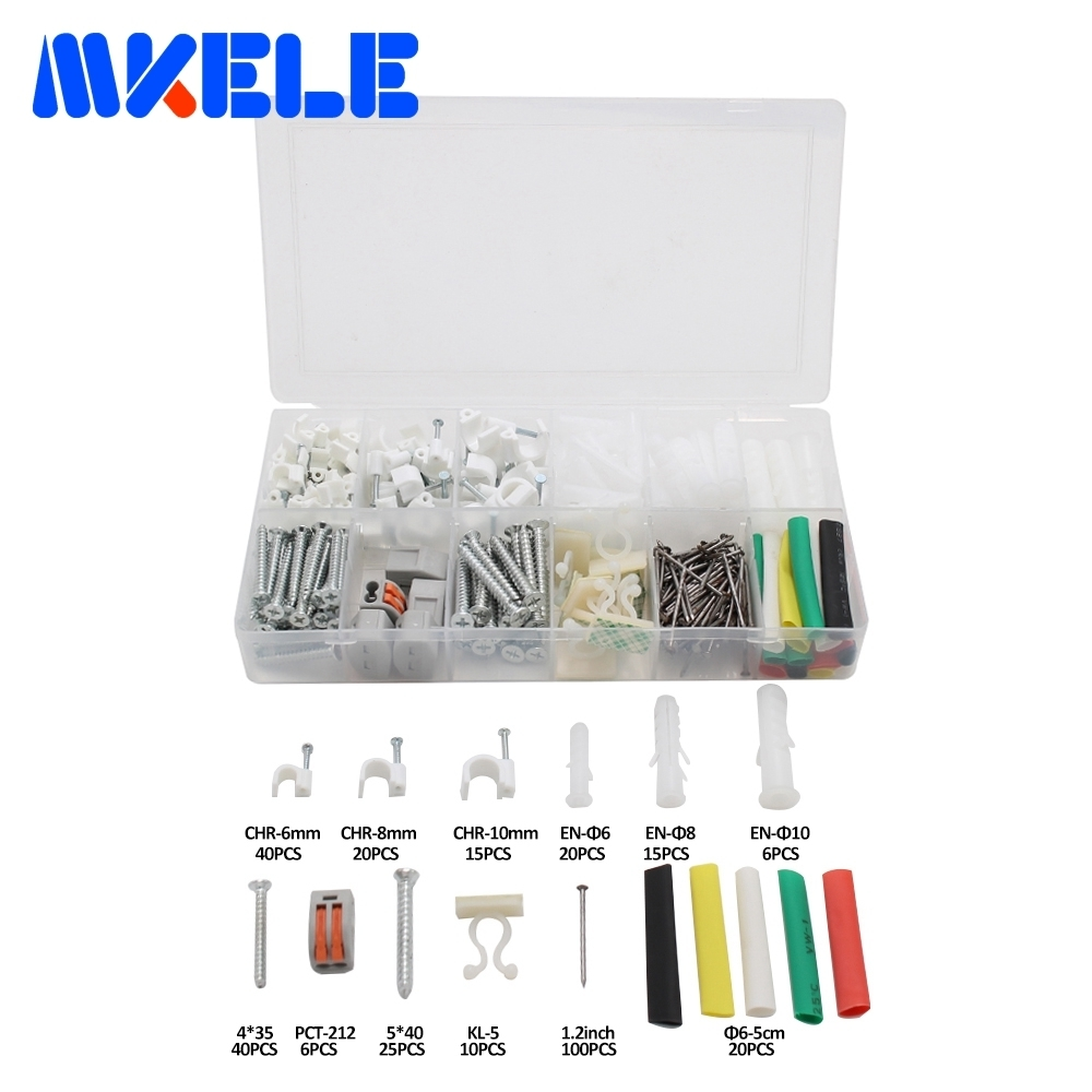 317pcs DIY Combination Kit Hard Wire Connecting Terminal Twist Tie Connector Terminals Pin Line Cards Expansion Pipe Mounting