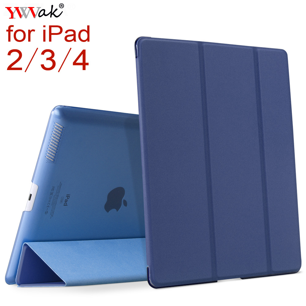 For iPad 2 3 4 , YWVAK YiPPee Color PU Smart Cover Case Magnet wake up sleep For apple iPad2 iPad3 iPad4 image