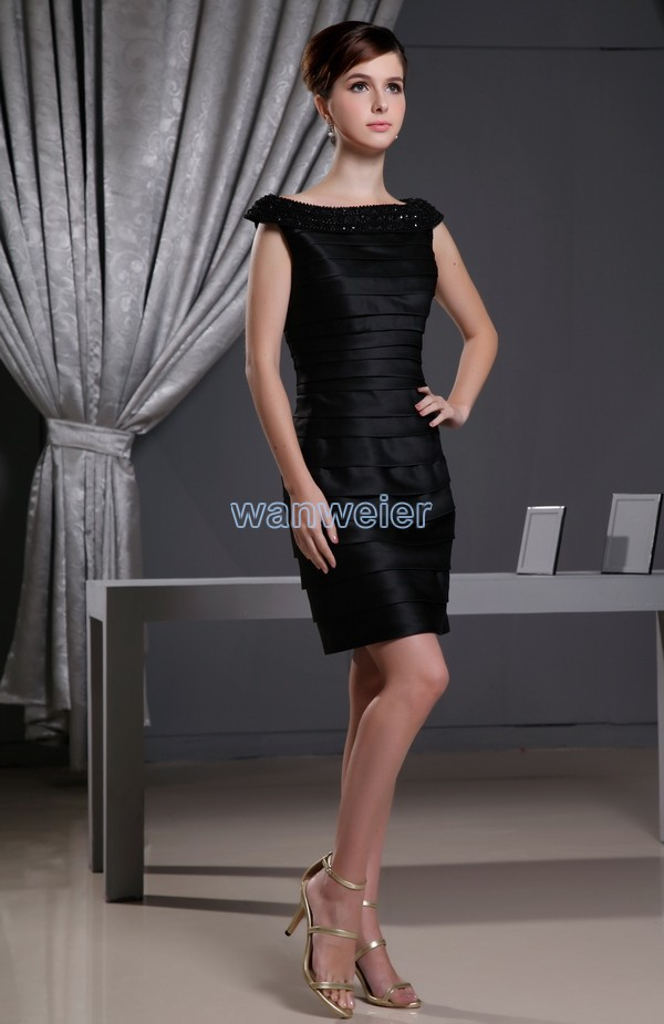 fc18f79c920a free shipping 2018 new hot sale special occasion custommade size color  rhinestone mini short sexy crystal black bridesmaid Dress