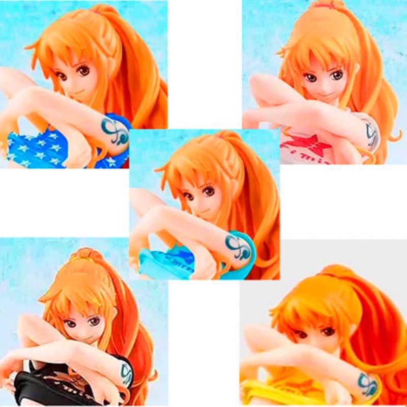 14 CENTÍMETROS ONE PIECE Anime Figura Figura de Ação Nami Maiô T-shirt Ver Sexty Menina Boneca F286