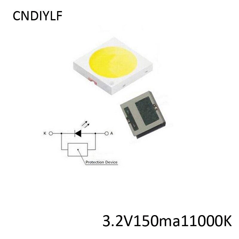100PCS Original Everlight LED 3030 3V To 3.2V 150ma Coold White 1 LED Chip Inside Fast Shipping Via Regisitered Air Mail