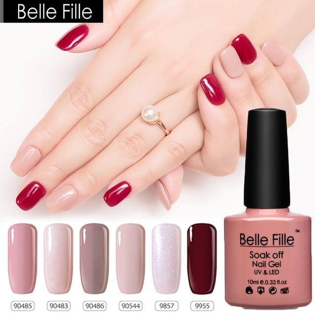 Pink Nude White Black Gel Nail Polish UV 10ml 79 Colors LED Gel ...