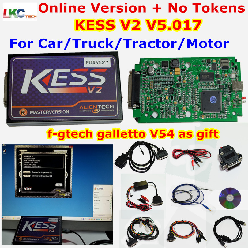 Цена за Новые Онлайн версия KESS V5.017 V2.23 без маркер Limited KESS мастер Kess V2 OBD2 менеджер Тюнинг Комплект KESS 5.017 ЭБУ программист
