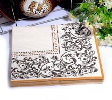 Min Order is $5, WN077 (1 packs ) Abstract pattern Napkin Paper 100% Virgin Wood Tissue for Party Decoration Crafts