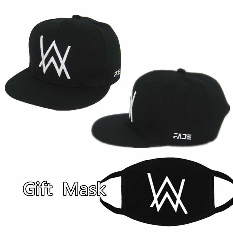 DJ Alan Walker Cosplay Costumes Hats Adjustable Black Cap With Gift Mask