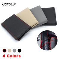 GSPSCN 1PC DIY Car Steering Wheel Cover on the steering wheel Anti-Slip With Needles and Thread Soft PU leather Size 36 38 40 CM