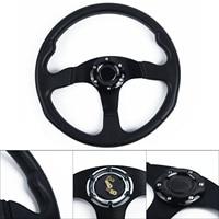 14inch 350mm Universal OMP Racing Steering Wheel Auto Steering Wheel Corn Drifting Suede Black perforated Steering wheel