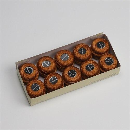 Размер 8, жемчужная хлопковая нить для вышивки крестиком, размер 43(5 грамм) на шарик, Двойной Мерсеризованный длинный штапельный хлопок, 10 шт./цвет - Цвет: 994