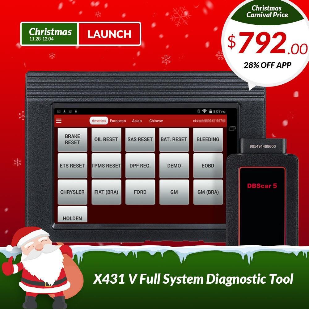 LANCEMENT X431 V 8 mondial version complète ECU système de diagnostic scanner X-431 V obd2 Bluetooth/Wifi outil D'analyse utilisé dans 200 + pays