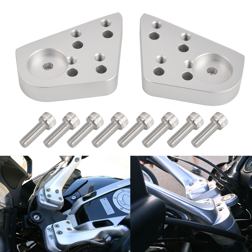 19MM Motorcycle Handle Bar Clamp Raised Extend Handlebar Mount Riser For <font><b>BMW</b></font> R1100RT R1150RT <font><b>R1200RT</b></font> R1100R R1150R Moto Parts image