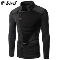 T Bird 2017 Hoodie Men Cardigan Sweatshirt Hip Hop Mens Brand Hoodies Winter Male Fashion Oblique