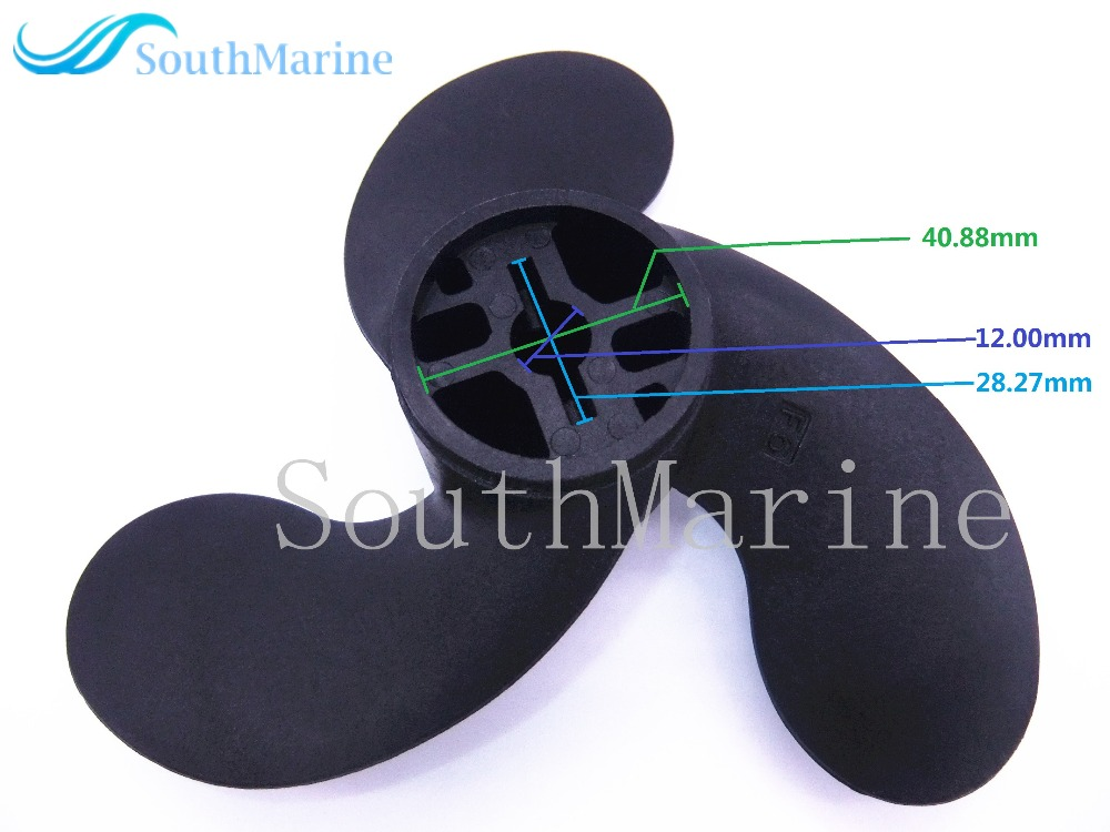 F6 309641060M 309-64106-0 Outboard Motors Plastic Propeller for Tohatsu Nissan 2.5HP 3.5HP