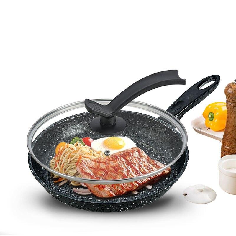 Frying Pan Non-stick Pan Household Pan No Smoke Pancake Pot Induction Cooker Gas Stove Universal Iron Pot Cast Iron Skillet Wok