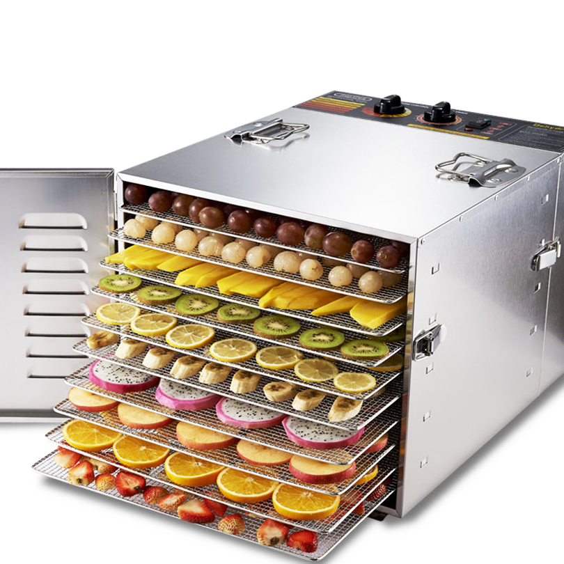 Free Shipping 10 Trays Food Dehydrator Fruit Vegetable Herb Meat Drying Machine Snacks Food Dryer Fruit Dehydrator