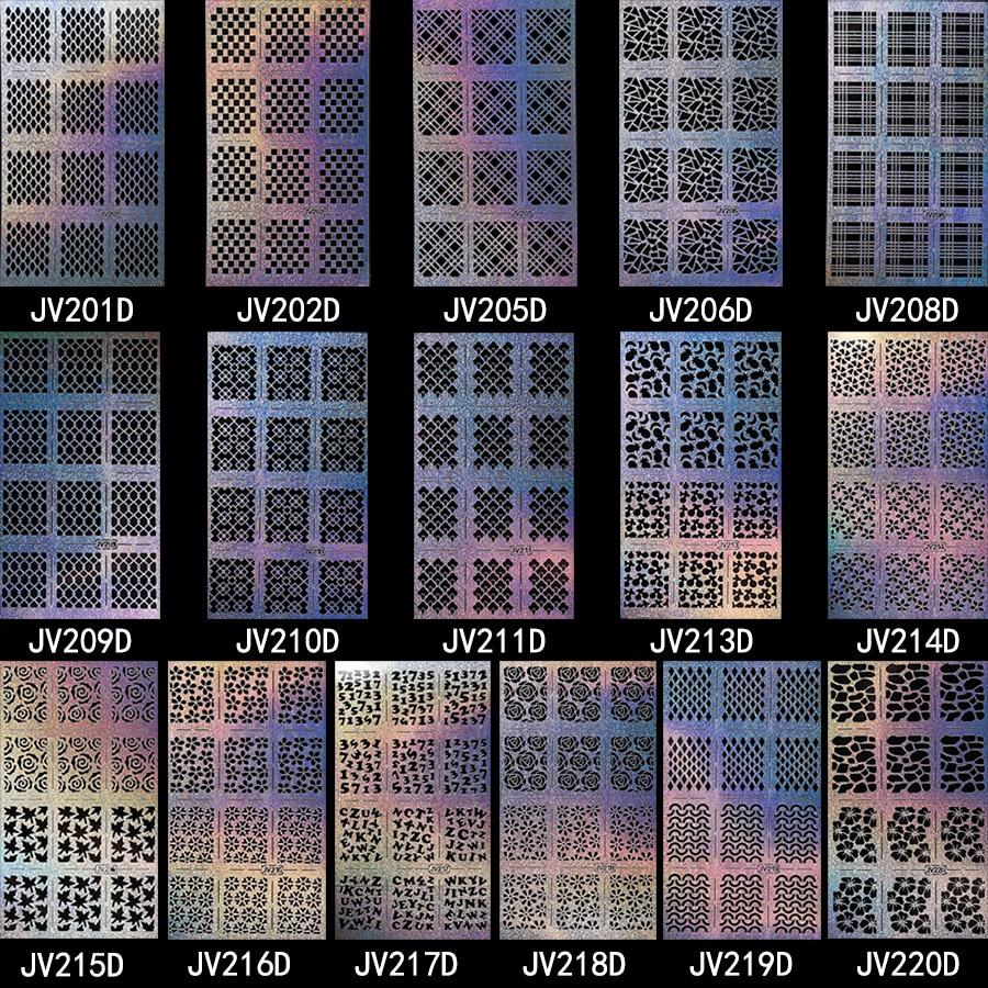 10 Pieces/lot Nail Art Sticker Leopard Print Flower Pattern Hollow ...