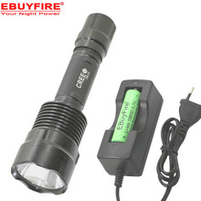 CREE XPL V6 Led flashlight rechargeable 18650 Torch lamp C12 XM- L2  5-Mode  Camping Led Flash light Torch Light Lamps