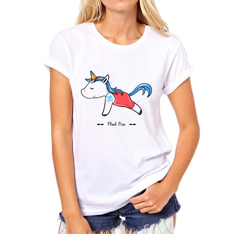 New Design Fashion Unicorn Women T Shirts action movement Movement Style Short Sleeve O-Neck Girl Tees Tops 96N-10#