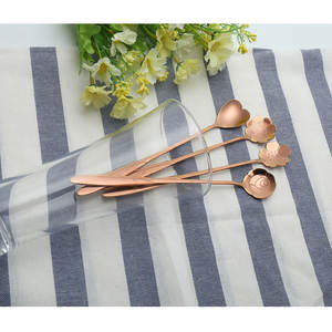 Aihogard 1 Pcs Stainless Steel Heart Coffee Tea Spoons