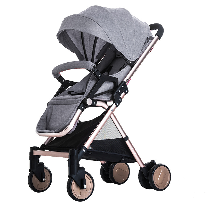 Aluminium Alloy Ultra-light High Landscape Joggy Baby Stroller Lightweight Shock Absorber Folding Child Trolley Baby Carriage