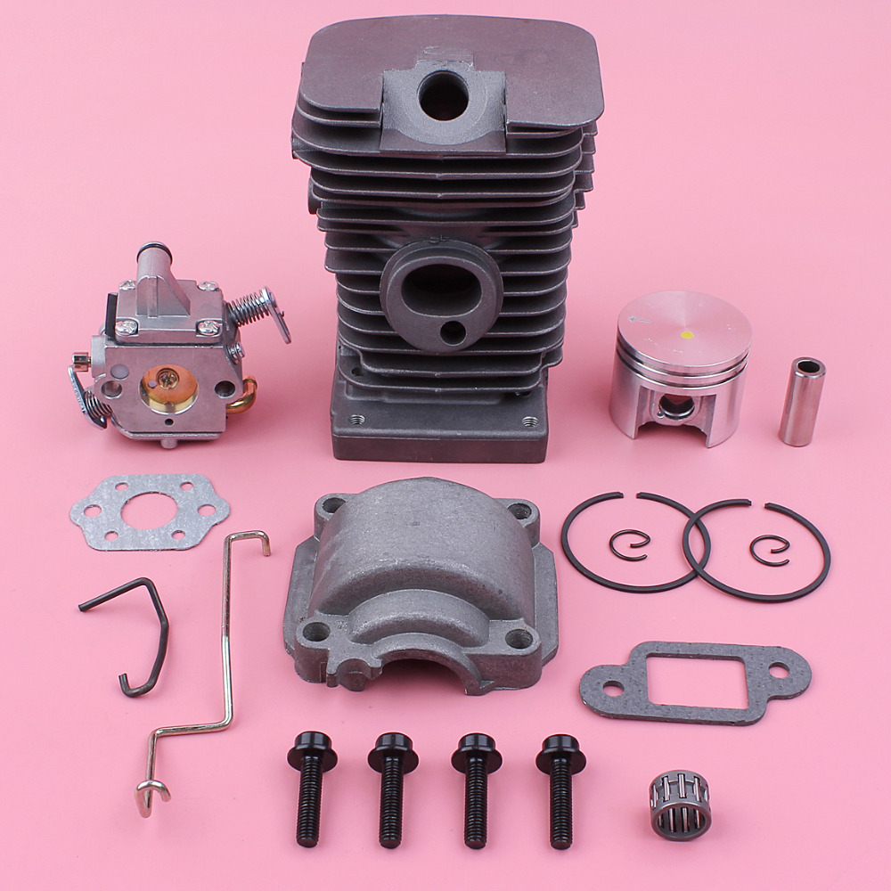 38mm Cylinder Piston Engine Pan Carburetor Kit For Stihl MS180 018 MS 180 Zama Carb Throttle Choke Rod Chainsaw Spare Part
