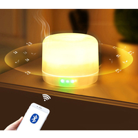500ML Essential Oil Diffuser with Wireless Bluetooth Speaker 7 Color Changing Night Light Air Aroma Humidifier For Home Car